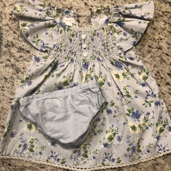 Mud Pie Other - blue floral dress